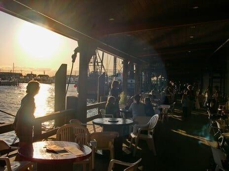 NJ Seafood; Sundown @ the Lobster House on the deck