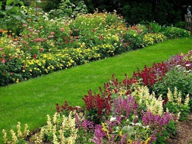 Another view of the gardens that are maintained by volunteers