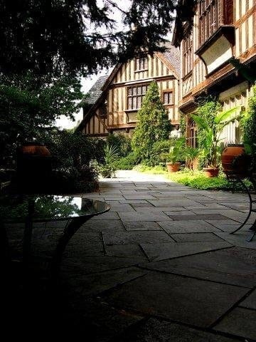 The back patio is a great place for wedding receptions and summer parties