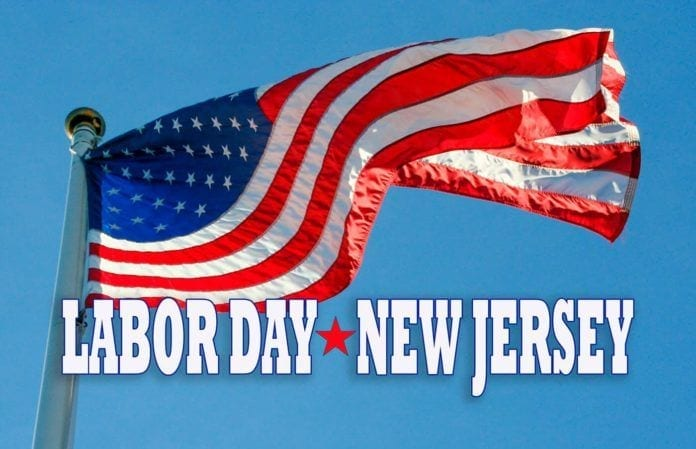 NJ Events-Labor Day-Flag Star Red