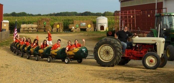 NJ Farms - Etsch Farms in Middlesex County - Corn Train