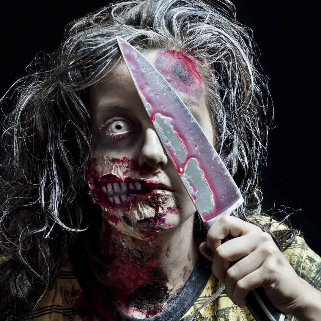 NJ Fall-Halloween-Zombie with Knife