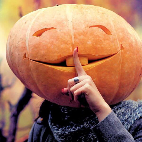 Fall Guide: Person in Pumpkin Costume