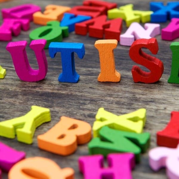 Colourful letters spelling out Autism