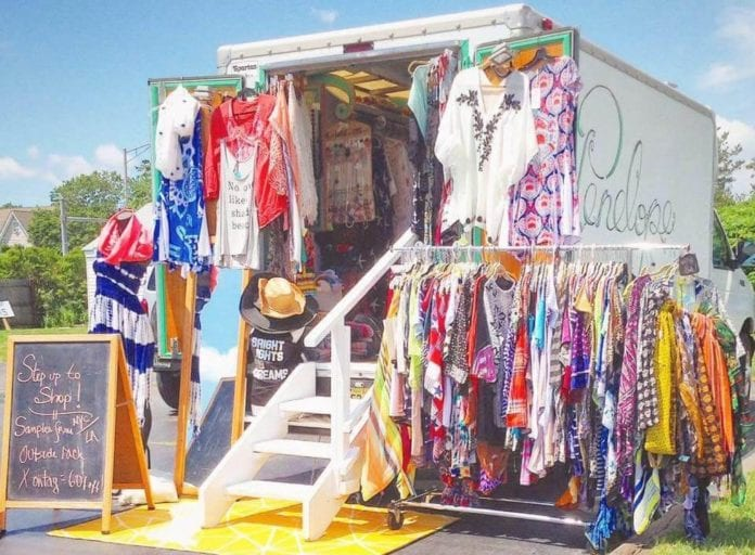 Exterior Photo of Mobile Fashion Truck, Penelope Fashion Boutique