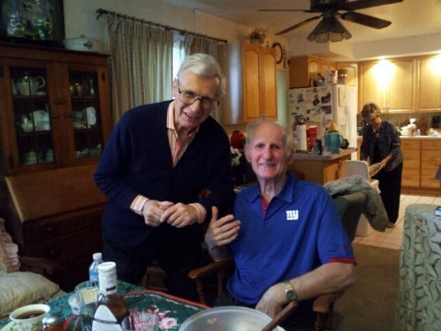 The Amazing Kreskin (left) with his brother, Joe.