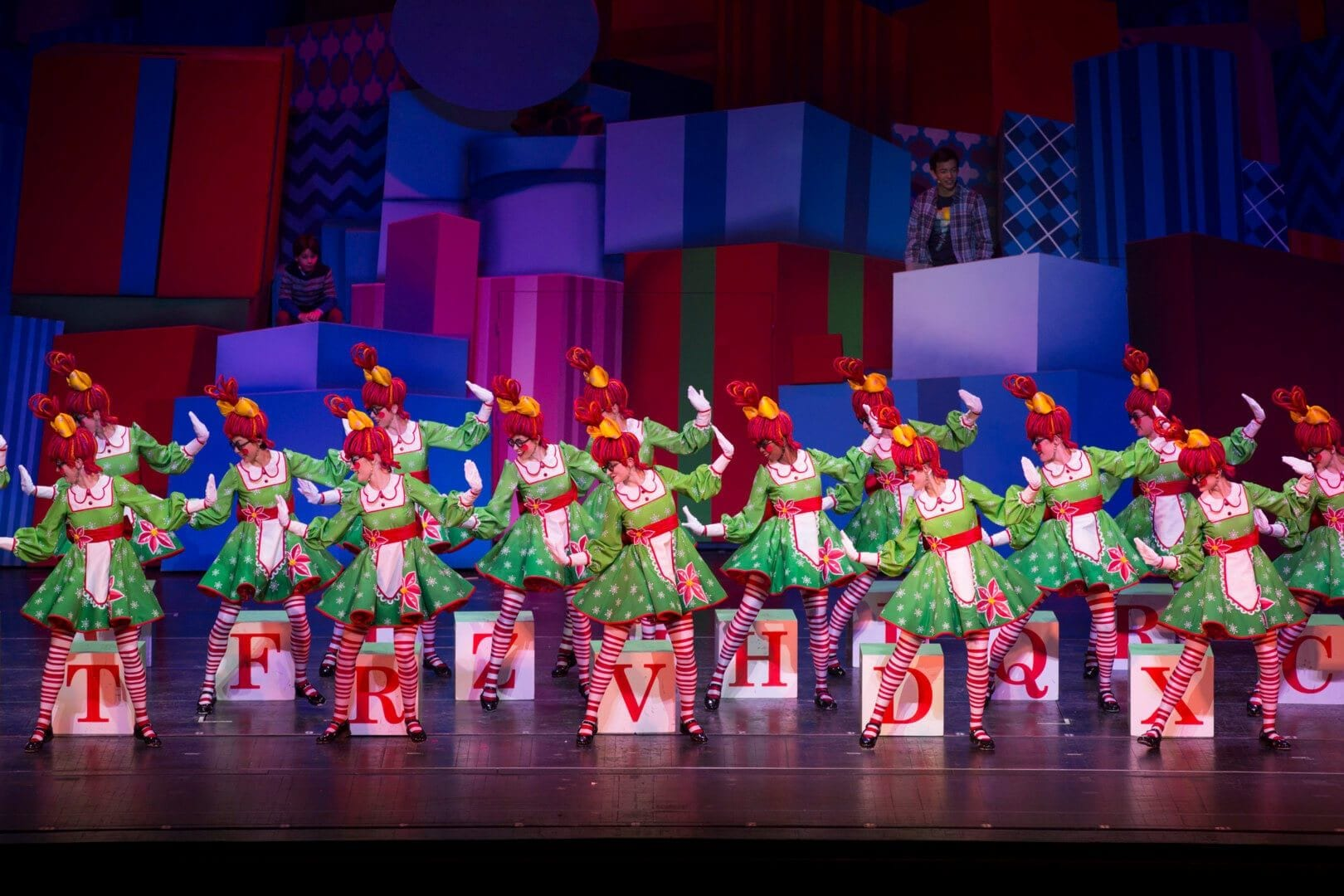 "The Rockettes performing their ""Rag Dolls"" number at Radio City Music Hall"