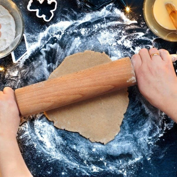 Making dough for a Christmas cookies