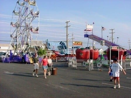 small fair with people in foreground
