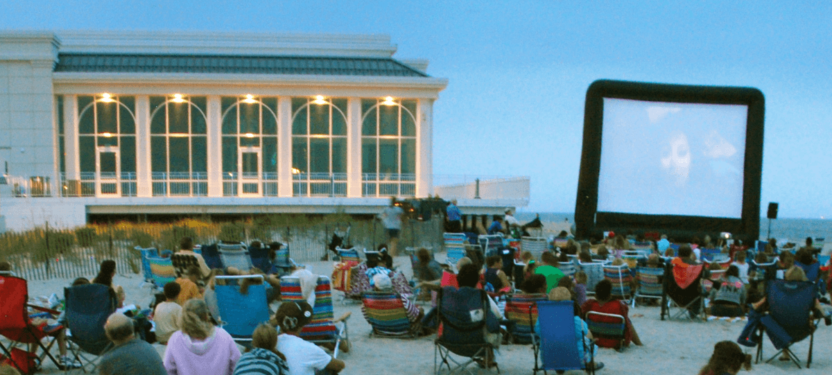Projection on the Beach