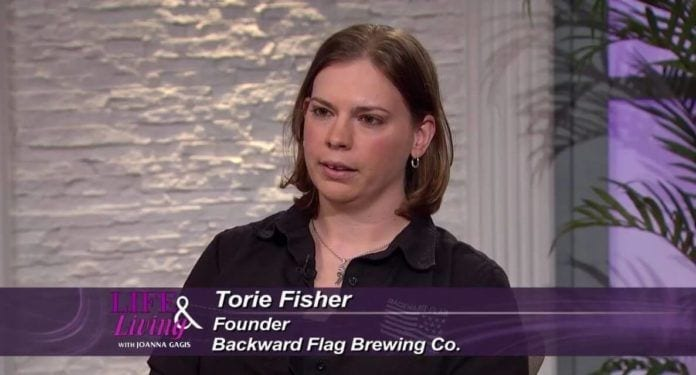 Torie Fisher Backward Flag Brewing