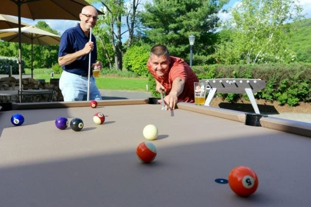 Playing Pool at Bear Den Grille