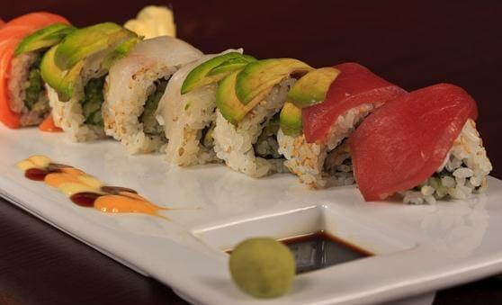 Blue Morel Sushi Rainbow Roll