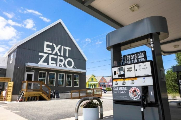 exit zero, filling station