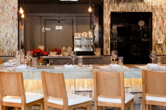 Table Setting at Fin Raw Bar & Kitchen in Montclair, Seafood Restaurant
