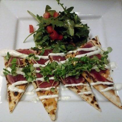 Quesadilla from Fin Raw Bar & Kitchen in Montclair, Seafood Restaurant