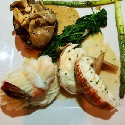 Daniels Bistro surf and turf