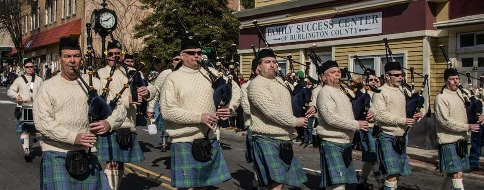 Mount Holly St. Patrick's Day Parade Photo of Bagpipe Players