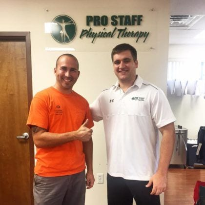 Pro Staff Physical Therapy Patient Success Photo