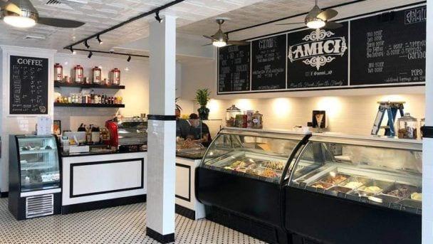 Amici Gelato & Caffe Interior