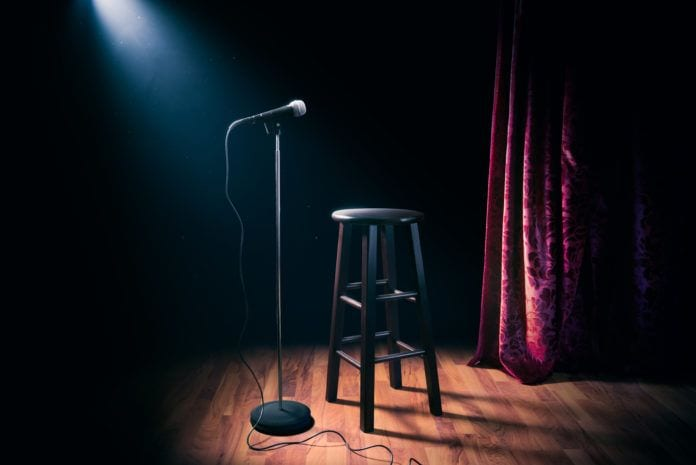 Stand-Up Comedy Performance on Stage