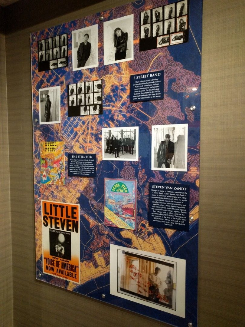 Collection of items from the E Street Band, The Steel Pier, and Steven Van Zandt.
