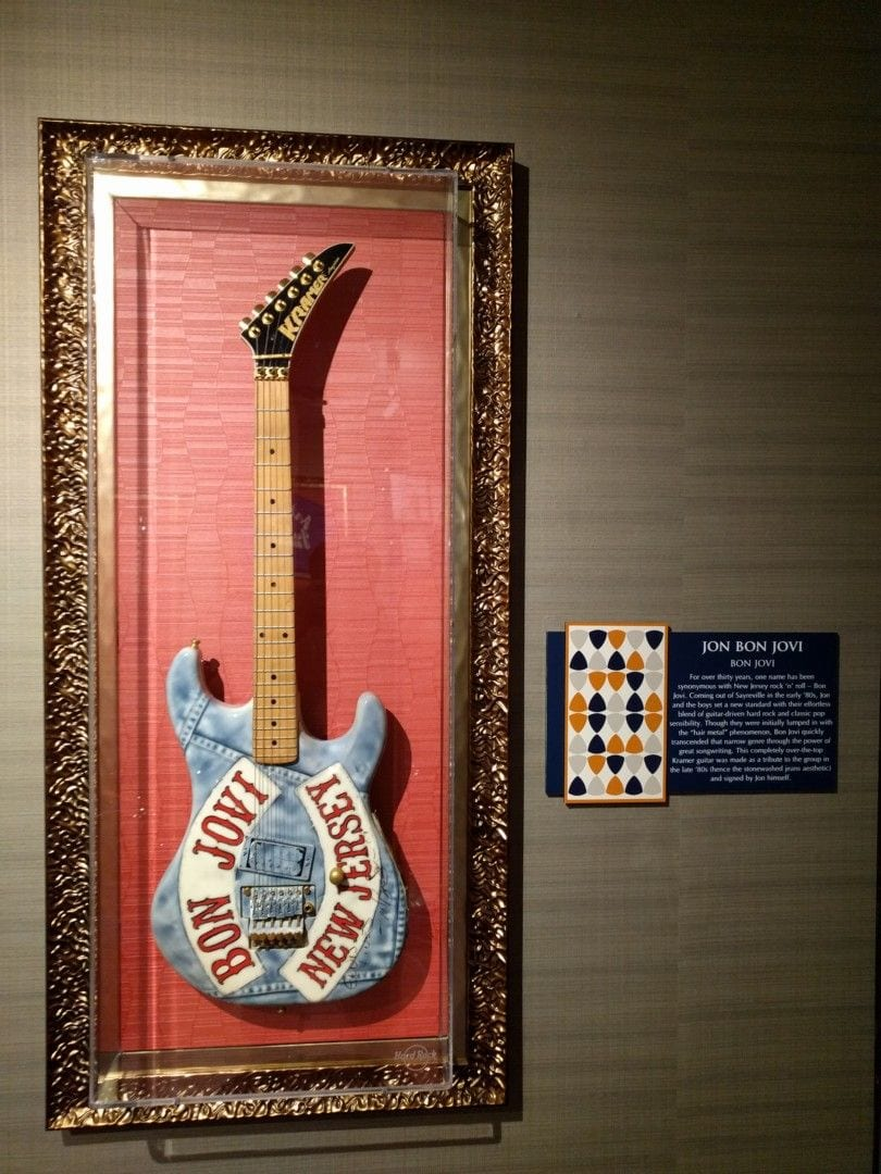 Kramer guitar made as a tribute to Bon Jovi in the late '80s