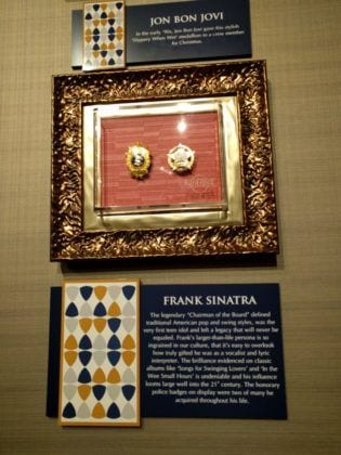 Honorary Police Badges given to Frank Sinatra