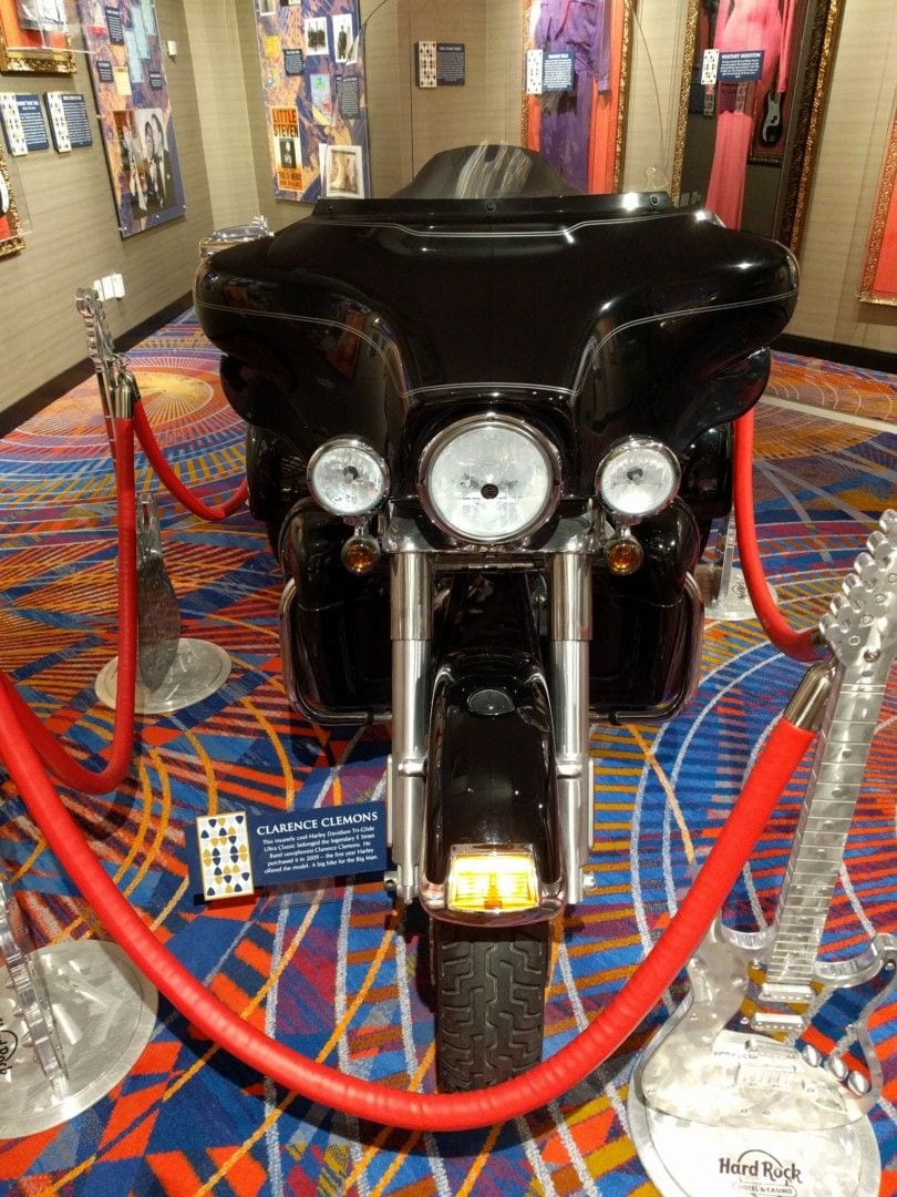 Clarence Clemons, E Street Band Saxophonist, bought this bike in 2009.
