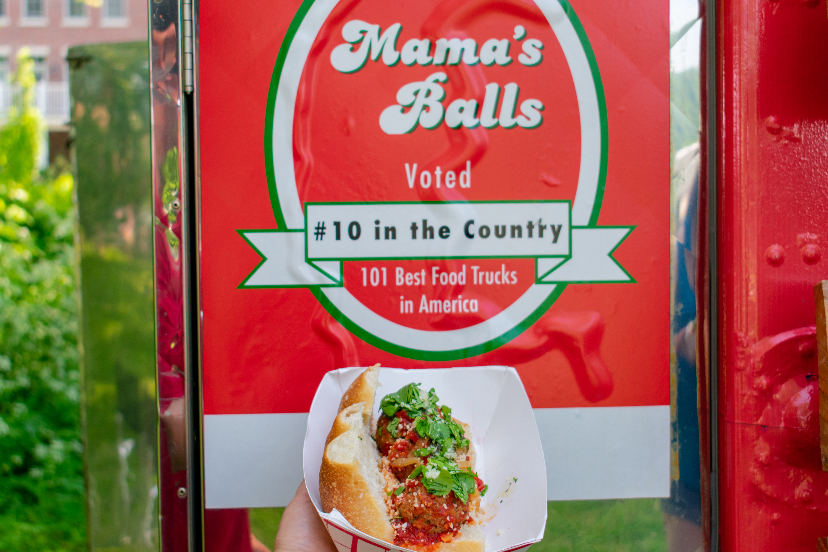 Mamas Meatballs Award Sign