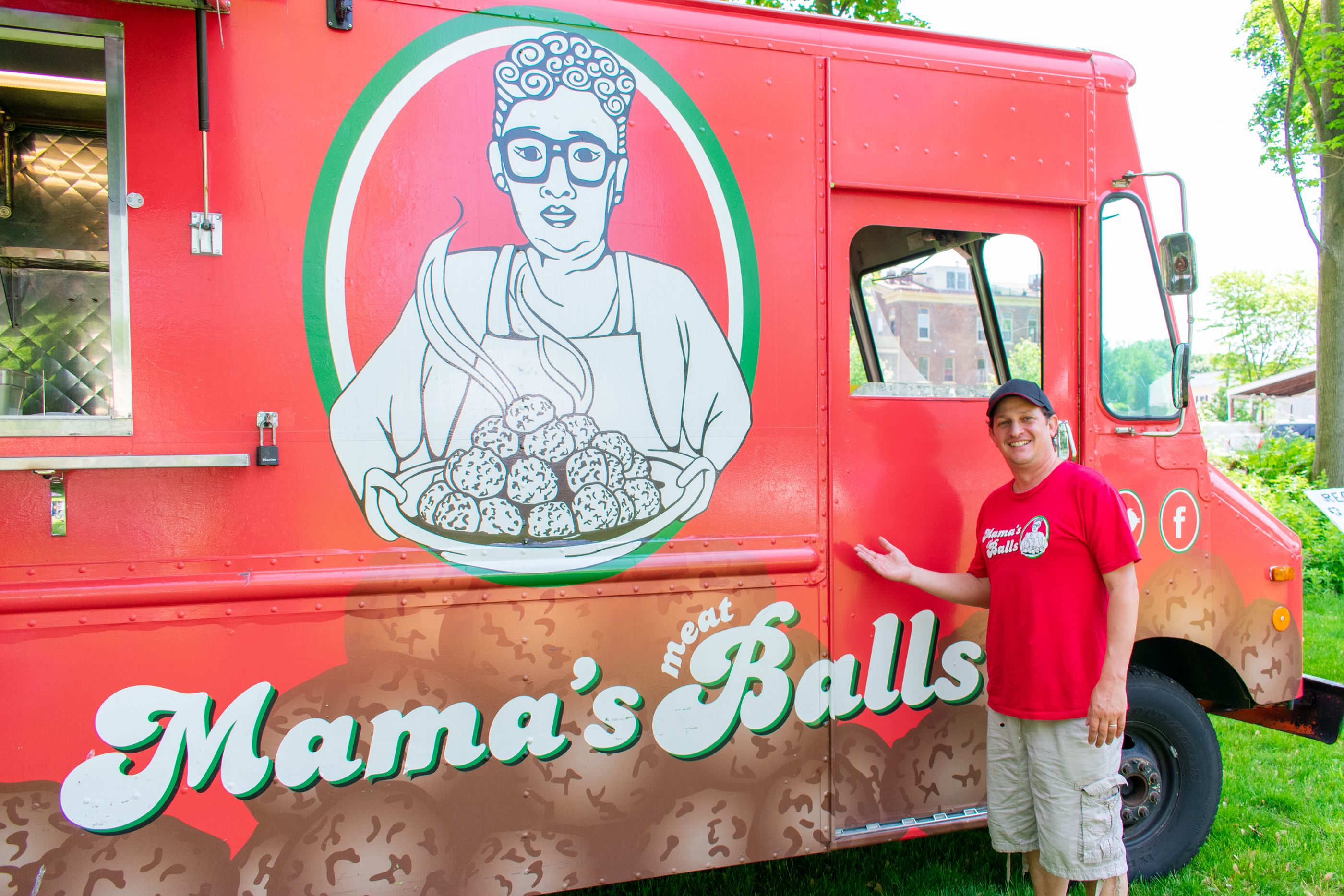 Mamas Meatballs Food Truck with Owner