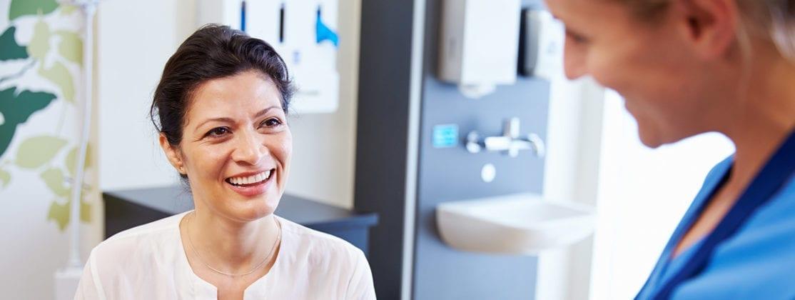 Female Patient smiling