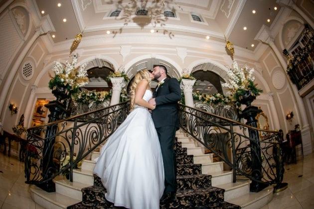 ceremony photo of bride and groom