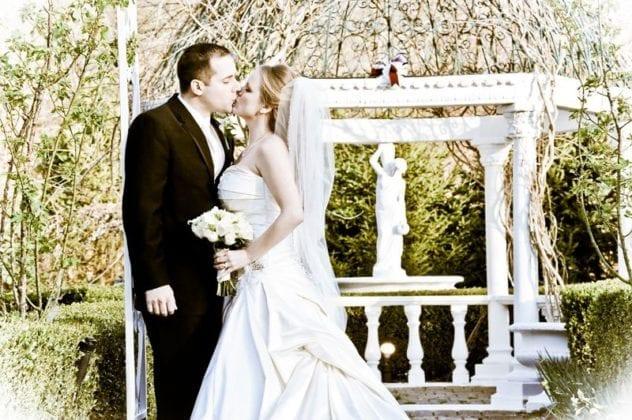 Jessica Lauren Photography Bride and Groom under Gazebo