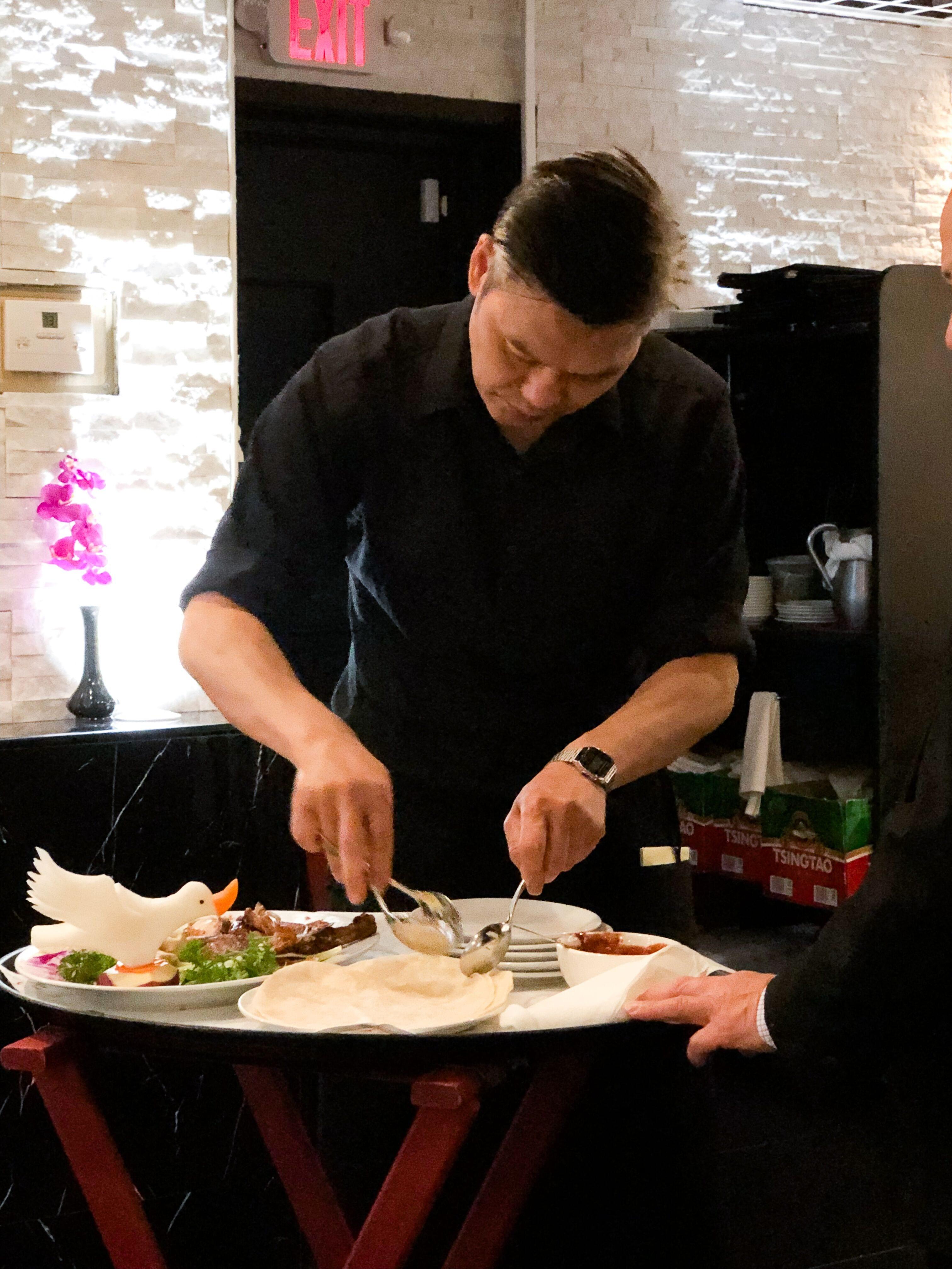 Chef Yang Preparing Meal