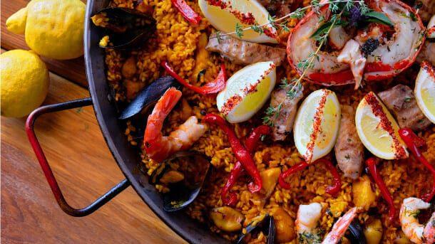 Close up of Seafood Dish