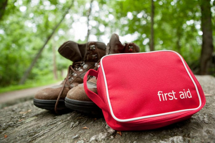 First Aid Kit on Hiking Trail