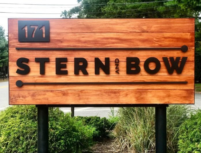 Stern and Bow outdoor sign