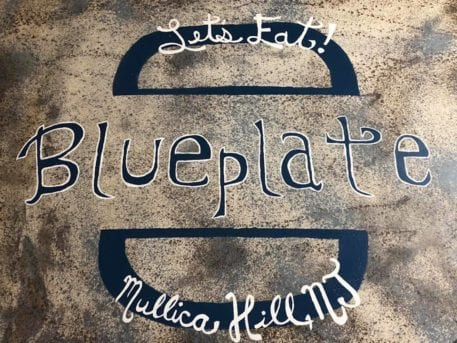 Blue Plate Sign