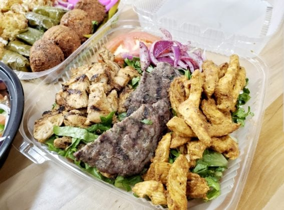 Food in takeout container