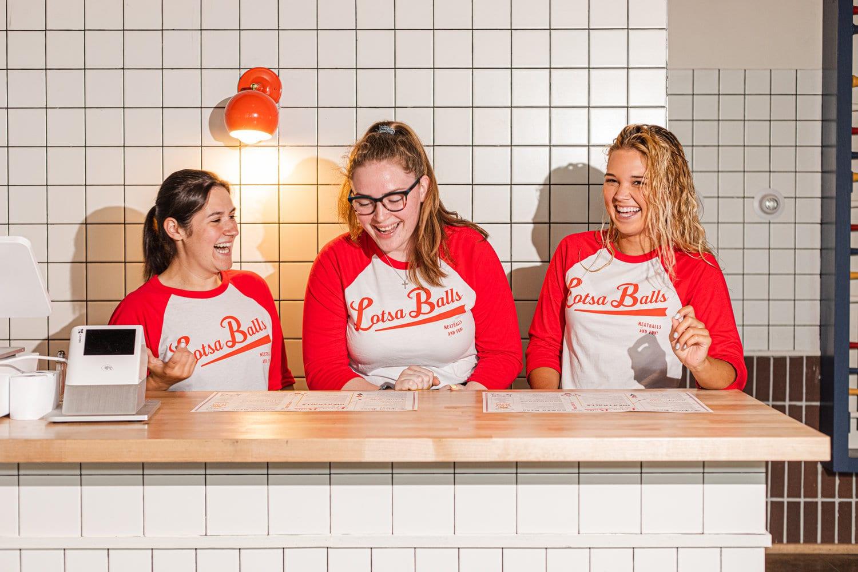 Female Employees smiling