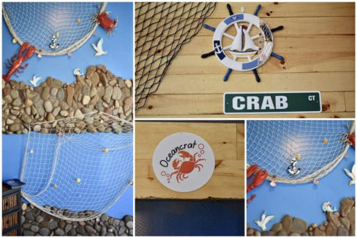 Collage of Nautical Decor inside The Boiling Seafood