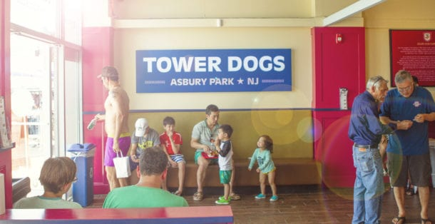 Tower Dogs interior sign