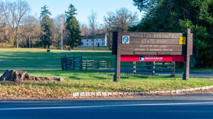Princeton Battlefield Entrance
